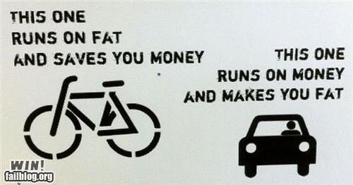 biking,diet,fossil fuels,graffiti,hacked irl,political,sign,tag