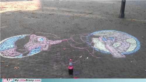 art awesome chalk pinkie pie Portal street - 5270489600