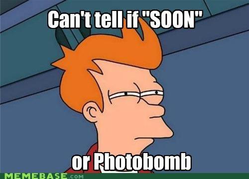 fry photobomb SOON
