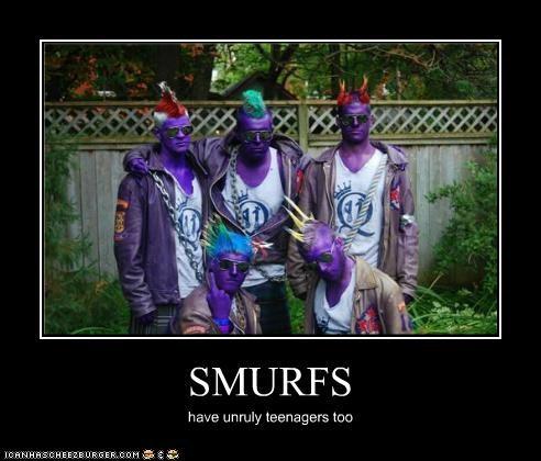 kids smurfs teenagers weird kid