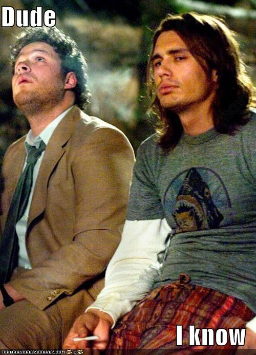 actor,celeb,funny,James Franco,Movie,pineapple express,Seth Rogen