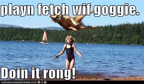 animals fetch i has a hotdog kids playing - 5271355648