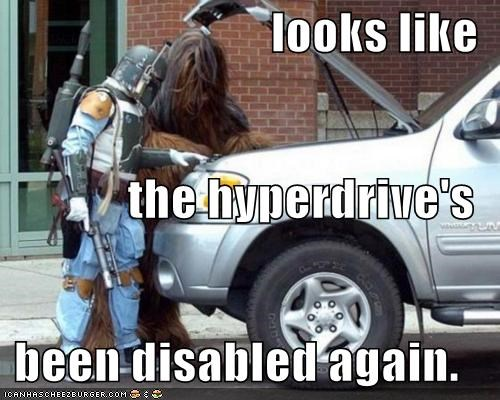 boba fett,car,car maintenance,hyper drive,oops,star wars