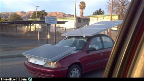 cars green energy overkill solar power
