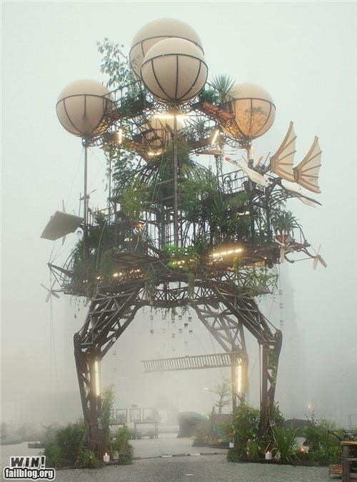 art,balloon,contraption,sculpture,Steampunk,thingamabob,tower