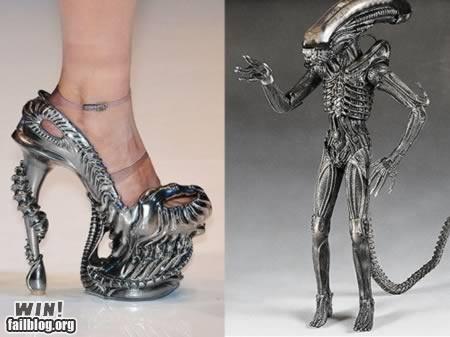 alien,gieger,heel,nerdgasm,sci fi,shoe