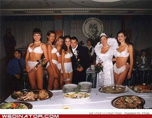 bridesmaids,funny wedding photos,lingerie,traditional