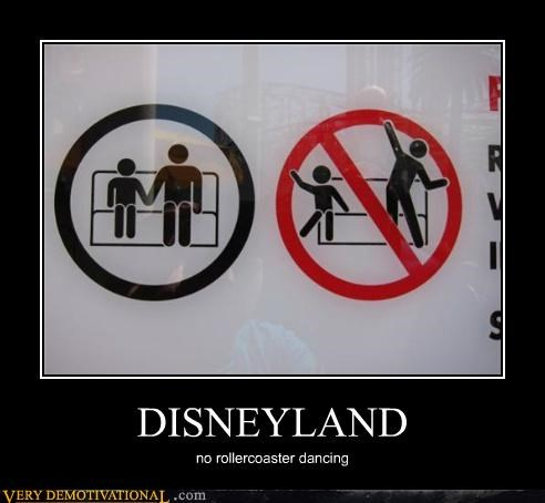 dancing disneyland hilarious sign