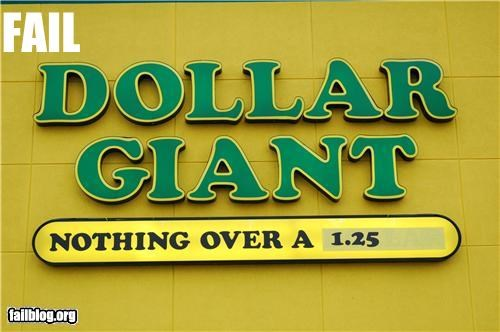 business name,dollar store,failboat,g rated,signs