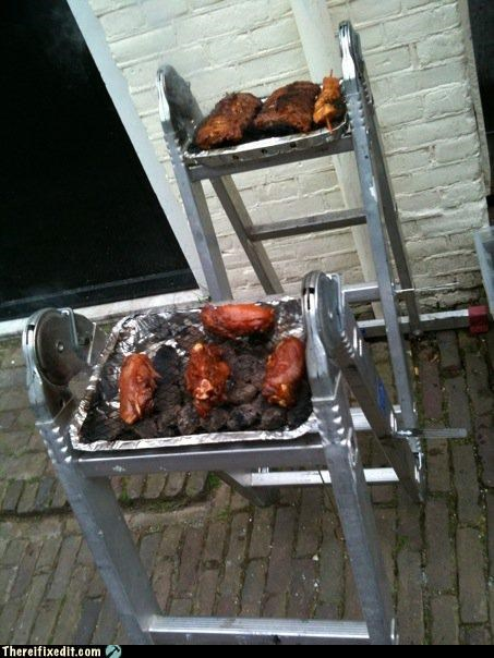barbecue,bbq,cooking,dual use,ladder