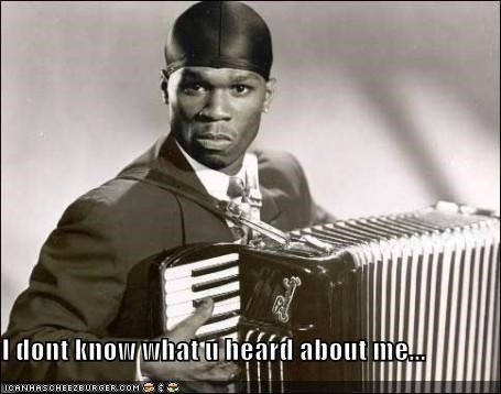 50 cent,accordion,Fifty Cent,rap,rapper,roflrazzi,wtf
