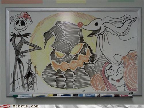 art,Hall of Fame,nightmare before christmas,whiteboard