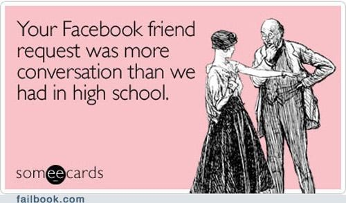 conversation,friend request,high school