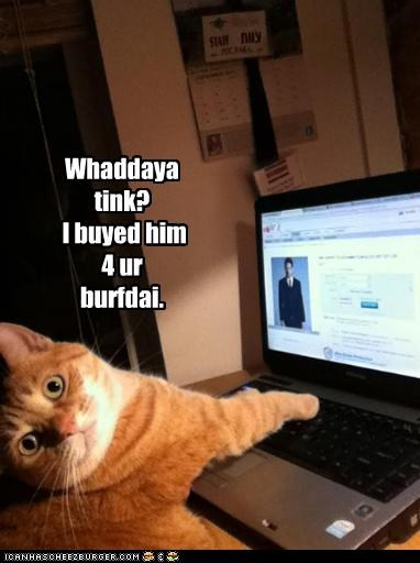 birthday bought caption captioned cat for internet opinion order present purpose question tabby