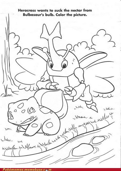 art bulb bulbasaur coloring book discovery channel do not want heracross naughty nectar - 5273222912