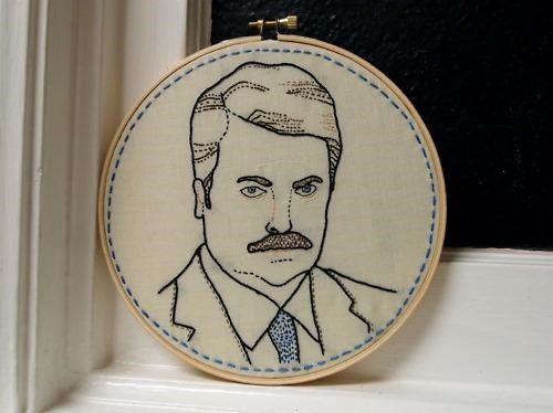 Manly Embroidery,parks-rec,ron swanson