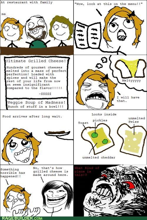 FAIL food grilled cheese noms Rage Comics - 5273358848