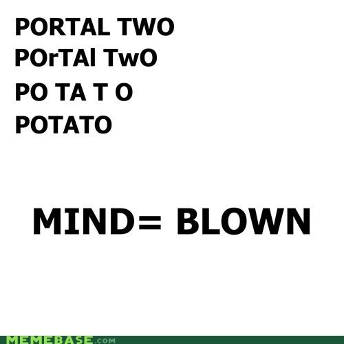 gladOS,Memes,mind blown,Portal,potato,video games