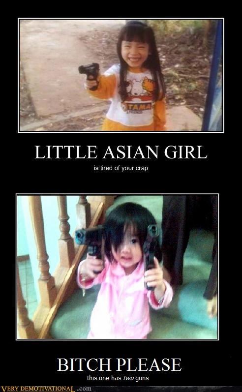 angry Asian girl guns please Terrifying - 5273538048