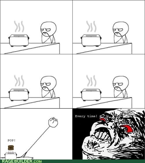 Rage Comics,scary,toast,toaster,win