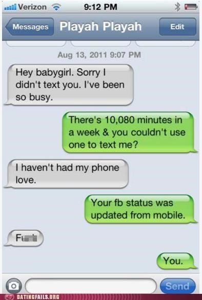 facebook mobile text texting We Are Dating - 5273607168