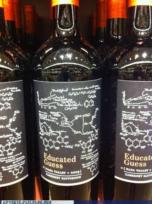 Chemistry label makes sense science sorcery wait what wine witchcraft