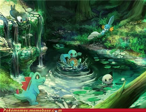 art,best of week,mudkip,oshawott,piplup,squirtle,totodile,Water Starters