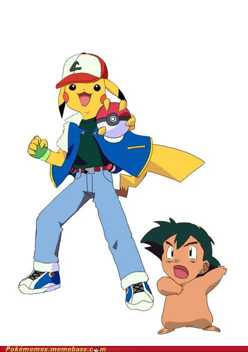 ash catch em all Memes pikachu roles reversed - 5273851392