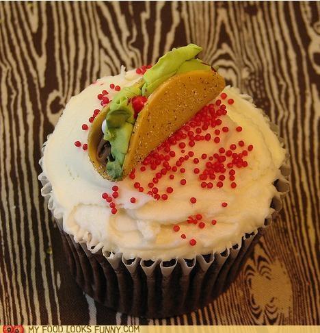 cupcake,fondant,sugar,taco,topper