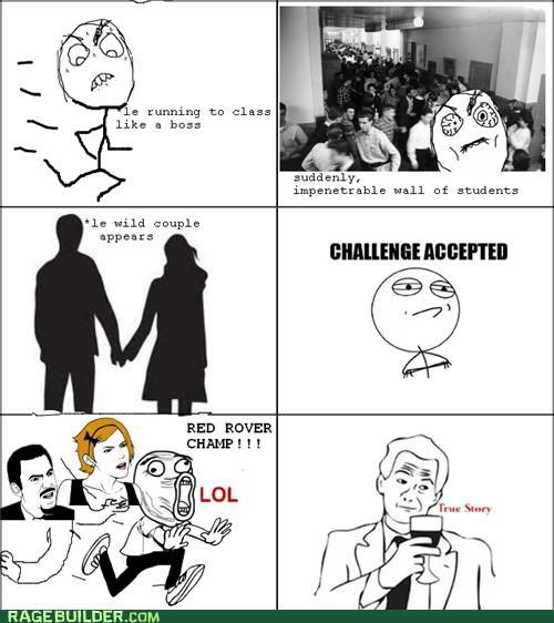 best of week Challenge Accepted couple Rage Comics Red Rover wall - 5274206976
