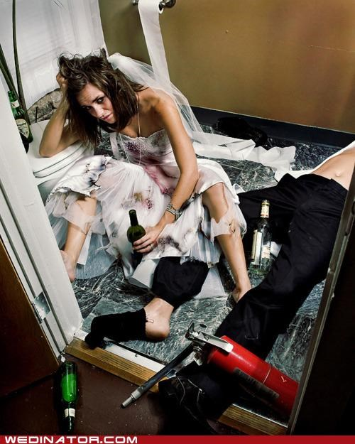 alcohol,bride,funny wedding photos,groom