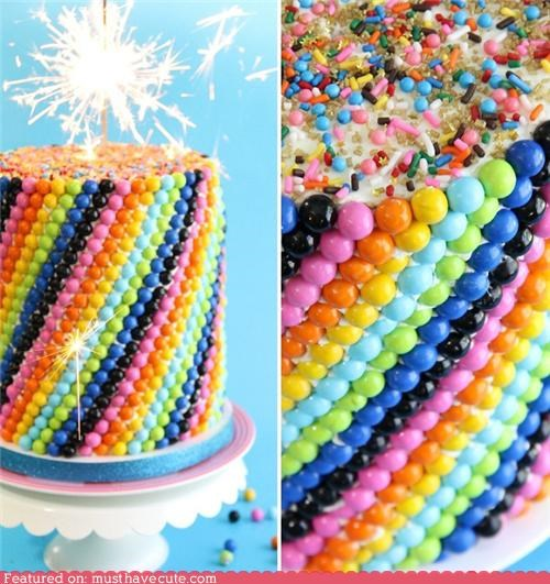 cake epicute mms rainbow sixlets sparkler - 5274304512