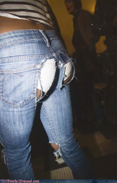 holes jeans pants underwear - 5274420992