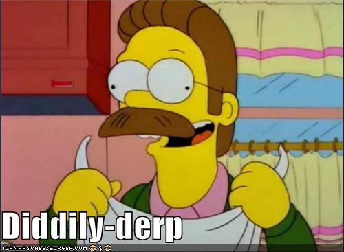 cartoons diddily derp flanders fox Movies and Telederp the simpsons TV - 5274443520