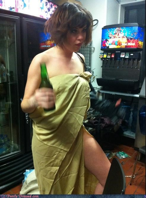 bed sheet beer bottle derp that face toga