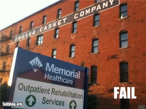 Death,failboat,g rated,hospital,juxtaposition,signs