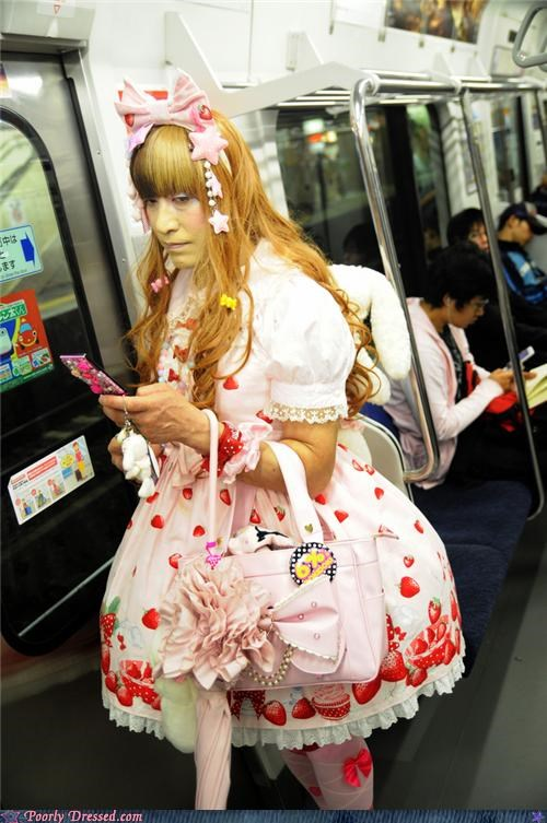 dress,lace,lolita,pale,Subway,yellow