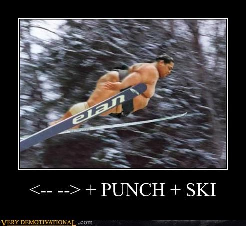 hilarious punch ski video game