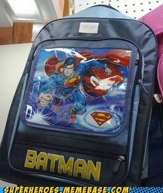 backpack batman product Random Heroics superman - 5276498432