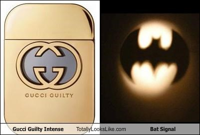 Gucci Guilty Intense Totally Looks Like Bat Signal