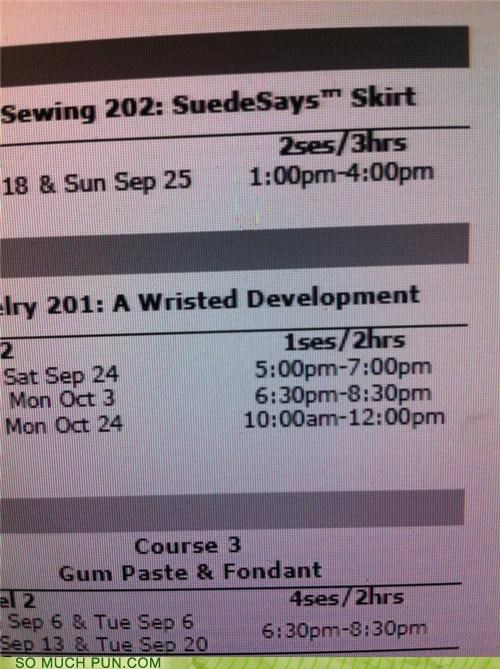 arrested development,development,fabric,joanns,lesson,similar sounding,store,title,workshop,wrist,wristed