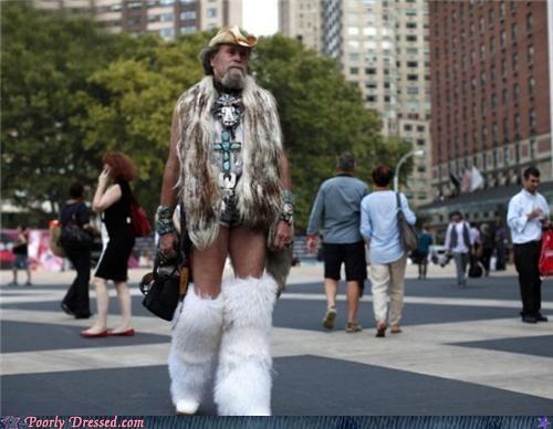 cowboy fur hair legwarmers street - 5276809472