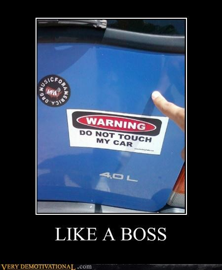 car Like a Boss Pure Awesome sign