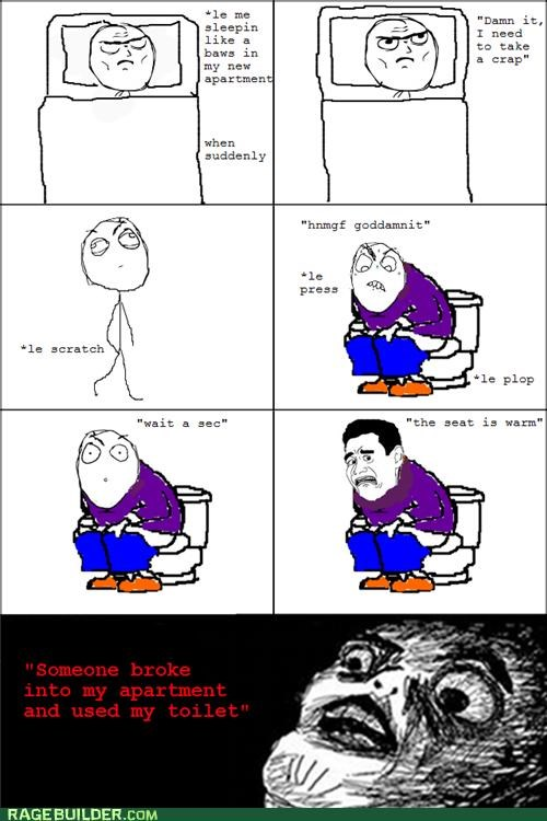 new apartment,pooptimes,Rage Comics,toilet,warm
