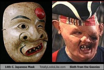 "14th C. Japanese Mask Totally Looks Like Sloth from ""The Goonies"""