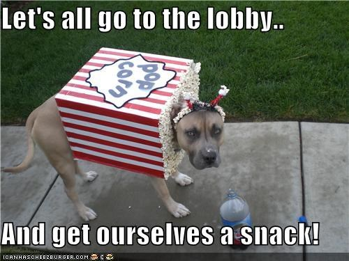 costume halloween howl-o-ween lets-all-go-to-the-lobby pit bill pitbull Popcorn snack - 5277055744