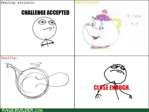 artistic Close Enough drawing Rage Comics teapot - 5277076992