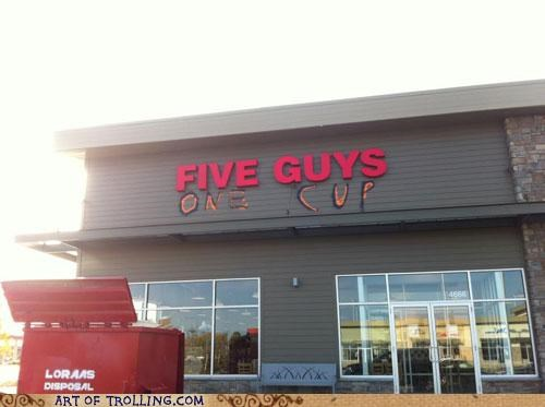 five guys,IRL,one cup,two girls one cup