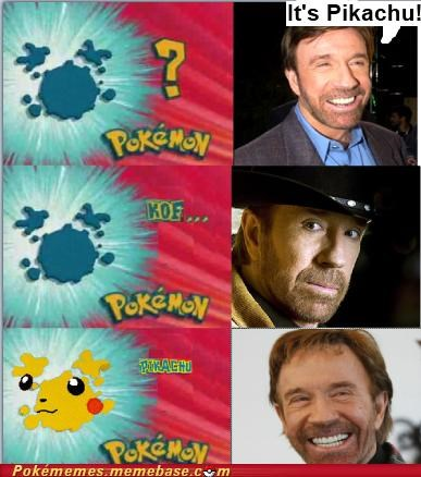 best of week,chuck norris,karate chop,Memes,pikachu,question,whos-that-pokemon