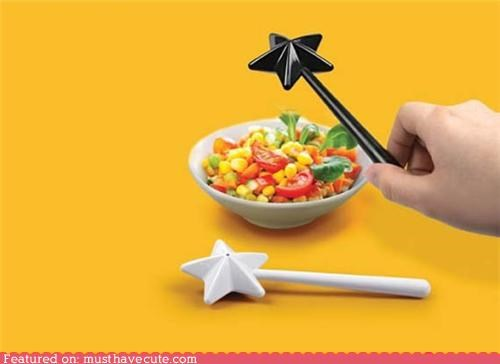 cute,food,magic,pepper,salt,salt and pepper shakers,wand